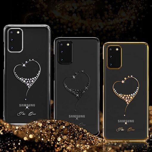 Samsung S20 Plus Kingxbar Wish elastsest plastikust Swarowski kristallikestega must 2