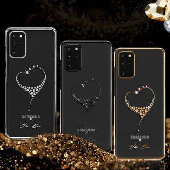 Samsung S20 Plus Kingxbar Wish elastsest plastikust Swarowski kristallikestega must 3