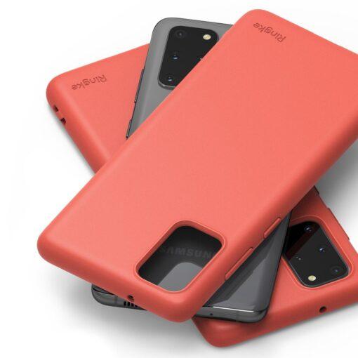 Samsung S20 Plus kaaned Ringke Air S Ultra Thin silikoonist korall ADSG0013 9