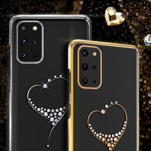 Samsung S20 Ultra Kingxbar Wish elastsest plastikust Swarowski kristallikestega kuldne 1