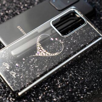 Samsung S20 Ultra Kingxbar Wish elastsest plastikust Swarowski kristallikestega kuldne 12