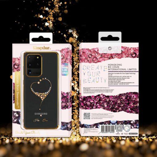 Samsung S20 Ultra Kingxbar Wish elastsest plastikust Swarowski kristallikestega kuldne 15