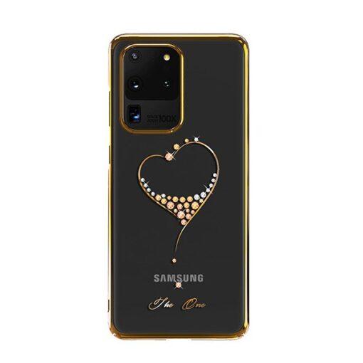 Samsung S20 Ultra Kingxbar Wish elastsest plastikust Swarowski kristallikestega kuldne