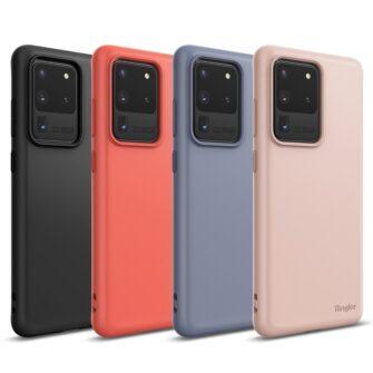 Samsung S20 Ultra kaaned Ringke Air S Ultra Thin silikoonist roosa ADSG0017 10