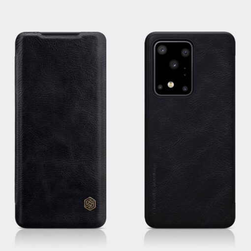 Samsung S20 Ultra kaaned nahast Nillkin Qin must 13