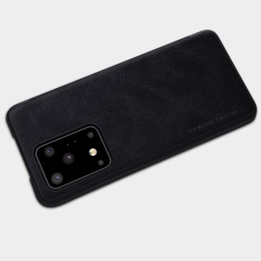 Samsung S20 Ultra kaaned nahast Nillkin Qin must 15