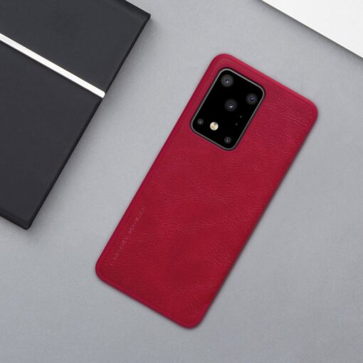 Samsung S20 Ultra kaaned nahast Nillkin Qin must 18