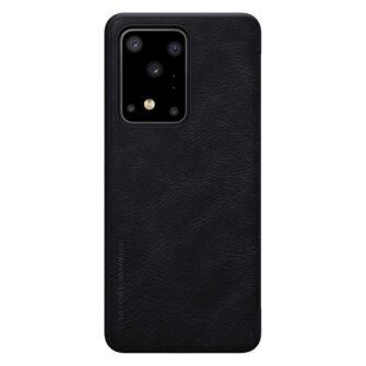 Samsung S20 Ultra kaaned nahast Nillkin Qin must 2