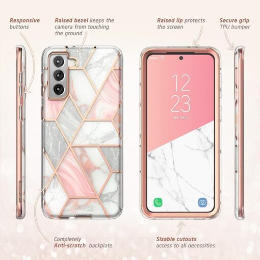 Samsung S21 Plus umbris Supcase Cosmo Galaxy Marble 5