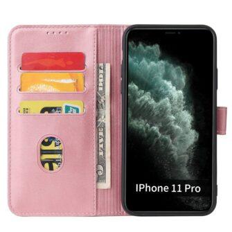iPhone 11 magnetiga raamatkaaned Pro Max roosa 2