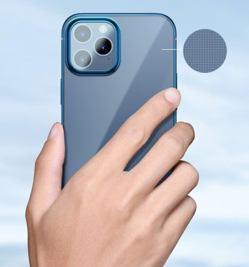 iPhone 12 12 Pro silikoonist umbris laikivate servadega Baseus Shining Case silikoonist starshine must ARAPIPH61N MD01 10