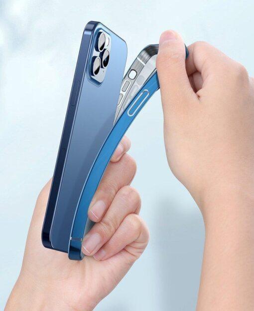 iPhone 12 12 Pro silikoonist umbris laikivate servadega Baseus Shining Case silikoonist starshine must ARAPIPH61N MD01 12