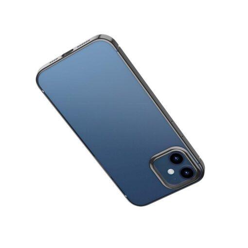 iPhone 12 12 Pro silikoonist umbris laikivate servadega Baseus Shining Case silikoonist starshine must ARAPIPH61N MD01 2