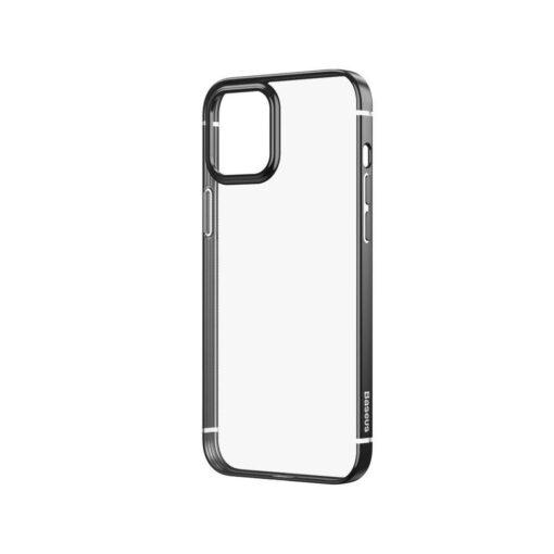 iPhone 12 12 Pro silikoonist umbris laikivate servadega Baseus Shining Case silikoonist starshine must ARAPIPH61N MD01 3