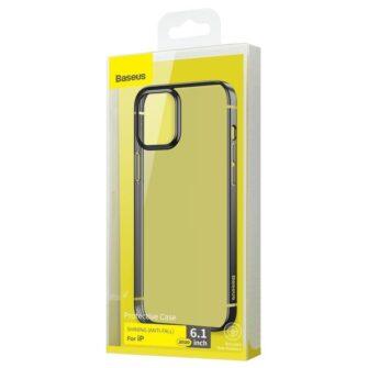 iPhone 12 12 Pro silikoonist umbris laikivate servadega Baseus Shining Case silikoonist starshine must ARAPIPH61N MD01 4