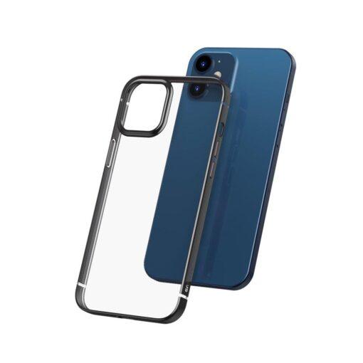iPhone 12 12 Pro silikoonist umbris laikivate servadega Baseus Shining Case silikoonist starshine must ARAPIPH61N MD01