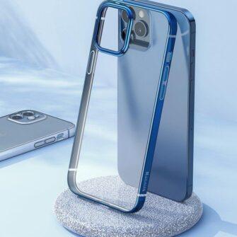 iPhone 12 12 Pro silikoonist umbris laikivate servadega Baseus Shining Case silikoonist starshine must ARAPIPH61N MD01 6