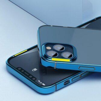 iPhone 12 12 Pro silikoonist umbris laikivate servadega Baseus Shining Case silikoonist starshine must ARAPIPH61N MD01 9
