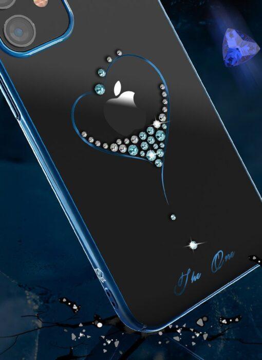 iPhone 12 Pro Max Kingxbar Wish elastsest plastikust Swarowski kristallikestega kuldne 8