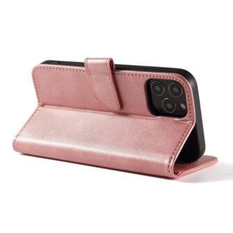 iPhone 12 Pro Max magnetiga raamatkaaned roosa 3