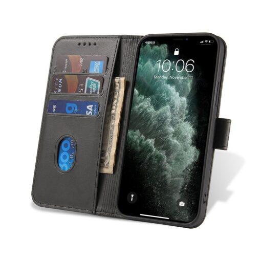 iPhone 12 Pro iPhone 12 magnetiga raamatkaaned must 5