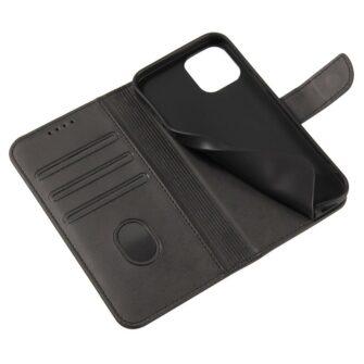 iPhone 12 Pro iPhone 12 magnetiga raamatkaaned must 6