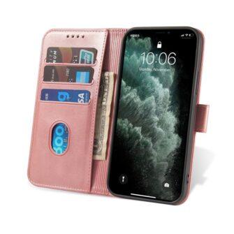 iPhone 12 Pro iPhone 12 magnetiga raamatkaaned roosa 5
