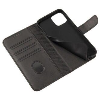 iPhone 12 mini magnetiga raamatkaaned must 6