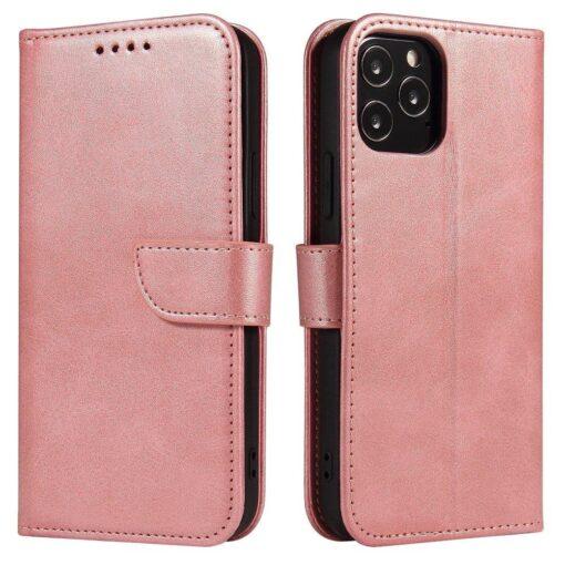 iPhone 12 mini magnetiga raamatkaaned roosa
