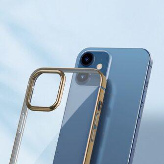 iPhone 12 mini silikoonist umbris laikivate servadega Baseus Shining Case silikoonist kuldne ARAPIPH54N MD0V 1