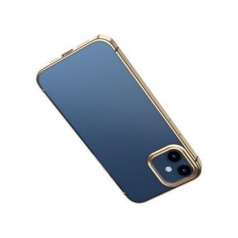 iPhone 12 mini silikoonist umbris laikivate servadega Baseus Shining Case silikoonist kuldne ARAPIPH54N MD0V 2