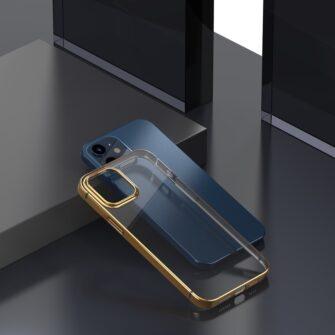 iPhone 12 mini silikoonist umbris laikivate servadega Baseus Shining Case silikoonist kuldne ARAPIPH54N MD0V 3