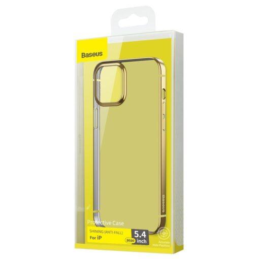 iPhone 12 mini silikoonist umbris laikivate servadega Baseus Shining Case silikoonist kuldne ARAPIPH54N MD0V 4