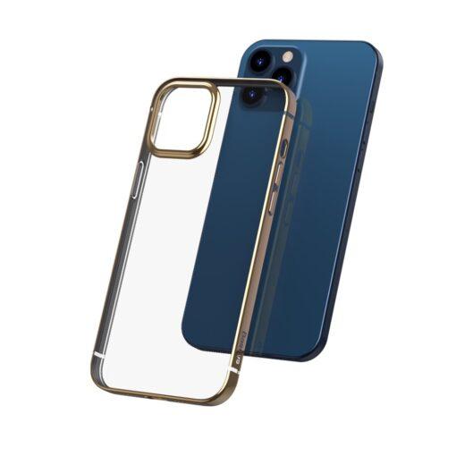 iPhone 12 mini silikoonist umbris laikivate servadega Baseus Shining Case silikoonist kuldne ARAPIPH54N MD0V