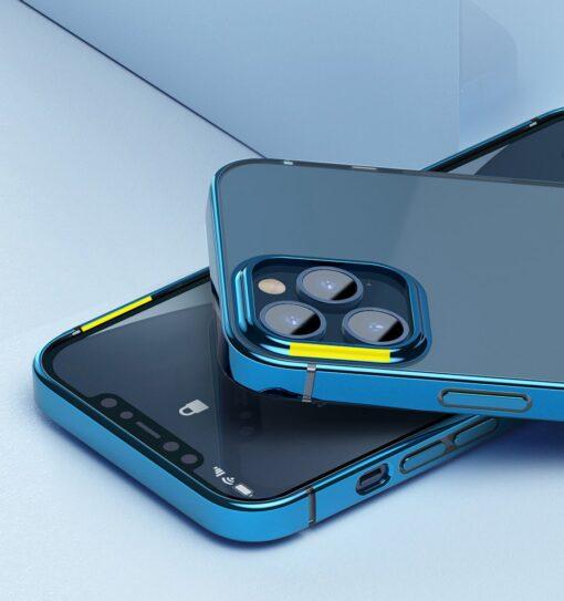 iPhone 12 mini silikoonist umbris laikivate servadega Baseus Shining Case silikoonist kuldne ARAPIPH54N MD0V 9