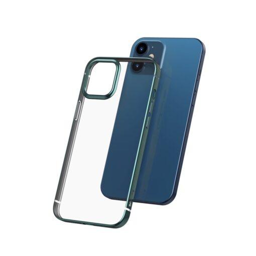 iPhone 12 mini silikoonist umbris laikivate servadega Baseus Shining Case silikoonist tumeroheline ARAPIPH54N MD06