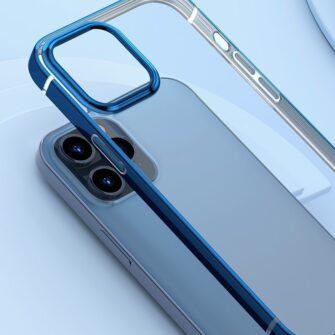 iPhone 12 mini silikoonist umbris laikivate servadega Baseus Shining Case silikoonist tumeroheline ARAPIPH54N MD06 6