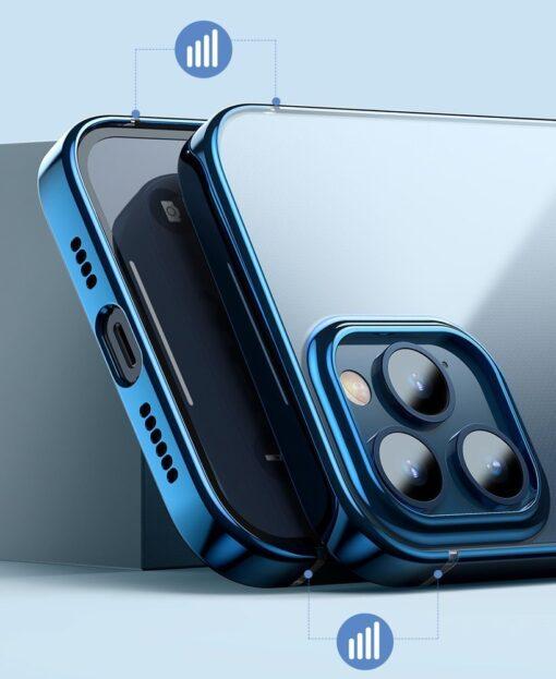 iPhone 12 mini silikoonist umbris laikivate servadega Baseus Shining Case silikoonist tumeroheline ARAPIPH54N MD06 7