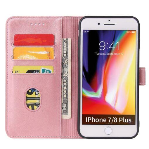 iPhone 8 Plus iPhone 7 Plus magnetiga raamatkaaned roosa 2