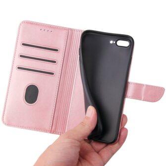 iPhone 8 Plus iPhone 7 Plus magnetiga raamatkaaned roosa 4