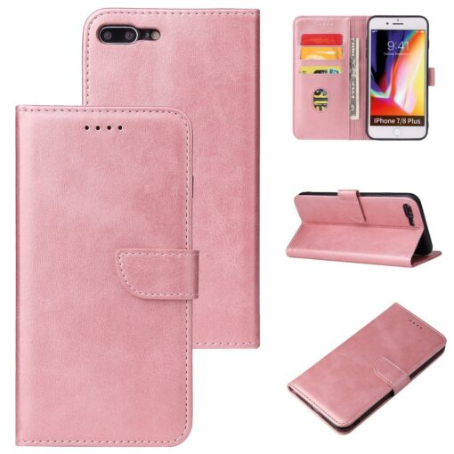 iPhone 8 Plus iPhone 7 Plus magnetiga raamatkaaned roosa 5