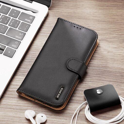 iPhone SE 2020 iPhone 8 iPhone 7 Dux Ducis Hivo Genuine Leather raamatkaaned must 11