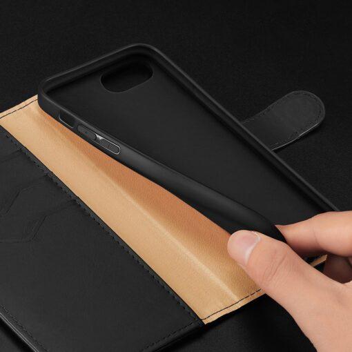 iPhone SE 2020 iPhone 8 iPhone 7 Dux Ducis Hivo Genuine Leather raamatkaaned must 14