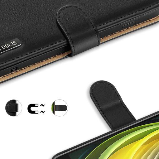 iPhone SE 2020 iPhone 8 iPhone 7 Dux Ducis Hivo Genuine Leather raamatkaaned must 2