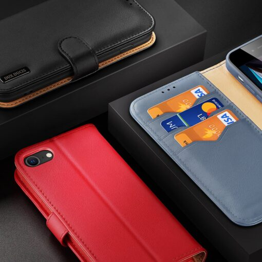 iPhone SE 2020 iPhone 8 iPhone 7 Dux Ducis Hivo Genuine Leather raamatkaaned must 20