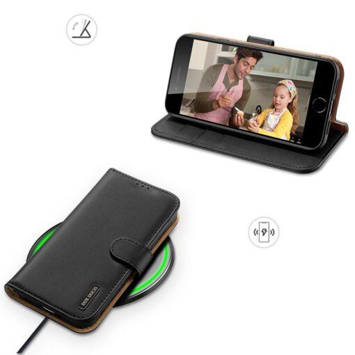 iPhone SE 2020 iPhone 8 iPhone 7 Dux Ducis Hivo Genuine Leather raamatkaaned must 3