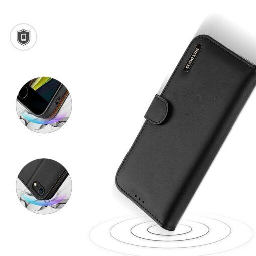 iPhone SE 2020 iPhone 8 iPhone 7 Dux Ducis Hivo Genuine Leather raamatkaaned must 6