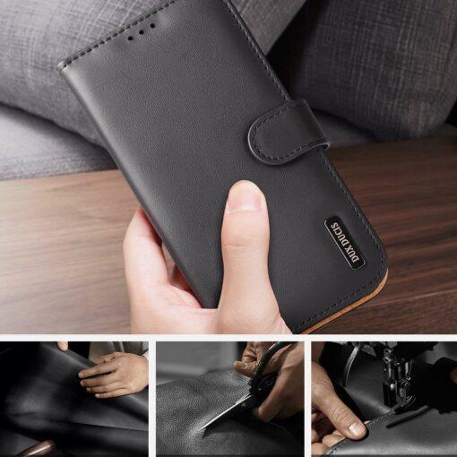 iPhone SE 2020 iPhone 8 iPhone 7 Dux Ducis Hivo Genuine Leather raamatkaaned must 9