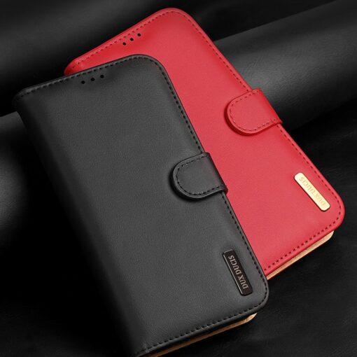iPhone SE 2020 iPhone 8 iPhone 7 Dux Ducis Hivo Genuine Leather raamatkaaned punane 11