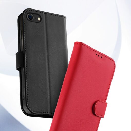 iPhone SE 2020 iPhone 8 iPhone 7 Dux Ducis Hivo Genuine Leather raamatkaaned punane 13
